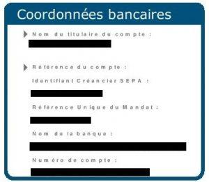 coordonnées bancaire facture gaz